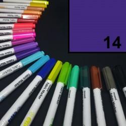 Popisovač / fix na textil Monami Brush - fialový, 1,3 mm, k dekorování a dotvoření textilu, např. triček, tašek aj.