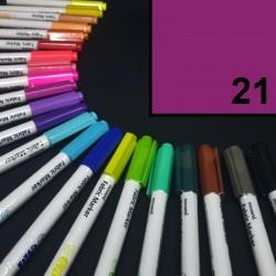 Popisovač / fix na textil Monami Brush - purpurový, 1,3 mm, k dekorování a dotvoření textilu, např. triček, tašek aj.