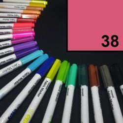 Popisovač / fix na textil Monami Brush - růžový, 1,3 mm, k dekorování a dotvoření textilu, např. triček, tašek aj.