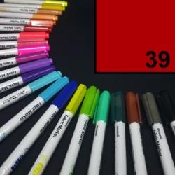 Popisovač / fix na textil Monami Brush - červený, 1,3 mm, k dekorování a dotvoření textilu, např. triček, tašek aj.