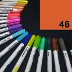 Popisovač / fix na textil Monami Brush - oranžový, 1,3 mm, k dekorování a dotvoření textilu, např. triček, tašek aj.