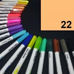 Popisovač / fix na textil Monami Brush - světle oranžový, 1,3 mm, k dekorování a dotvoření textilu, např. triček, tašek aj.
