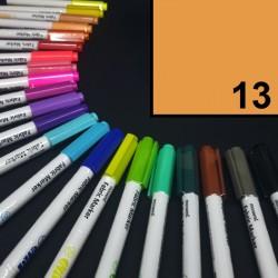 Popisovač / fix na textil Monami Brush - tmavě žlutý, 1,3 mm, k dekorování a dotvoření textilu, např. triček, tašek aj.