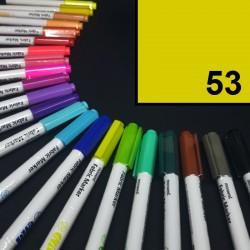 Popisovač / fix na textil Monami Brush -  žlutý, 1,3 mm, k dekorování a dotvoření textilu, např. triček, tašek aj.