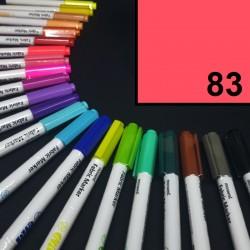 Popisovač / fix na textil Monami Brush - neonově červený, 1,3 mm, k dekorování a dotvoření textilu, např. triček, tašek aj.