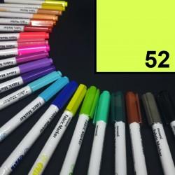 Popisovač / fix na textil Monami Brush - neonově žlutý, 1,3 mm, k dekorování a dotvoření textilu, např. triček, tašek aj.