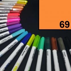 Popisovač / fix na textil Monami Brush - neonově oranžový, 1,3 mm, k dekorování a dotvoření textilu, např. triček, tašek aj.