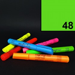 Silný tlustý neonový zvýrazňovač Koh-i-noor highlighter, zelený, tloušťka hrotu 1-5 mm