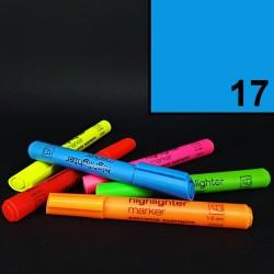 Silný tlustý neonový zvýrazňovač Koh-i-noor highlighter, modrý, tloušťka hrotu 1-5 mm