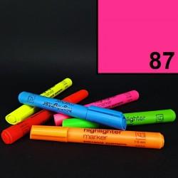 Silný tlustý neonový zvýrazňovač Koh-i-noor highlighter, růžový, tloušťka hrotu 1-5 mm
