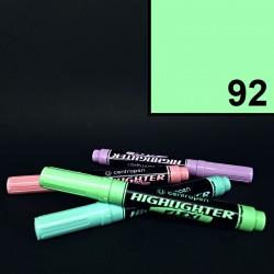 Silný tlustý pastelový zvýrazňovač Centropen highlighter flexi, zelený, tloušťka hrotu 1-5 mm