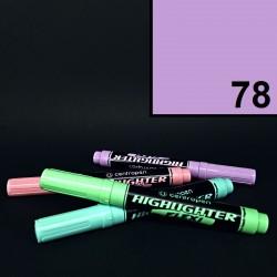 Silný tlustý pastelový zvýrazňovač Centropen highlighter flexi, fialový, tloušťka hrotu 1-5 mm