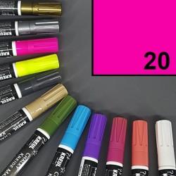 Mazatelný křídový popisovač / fix Kreul Chalky - neon růžový, pro psaní na sklo, plast aj., odolný vůči dešti.