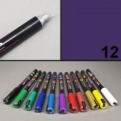 Univerzální akrylový popisovač/ / fix Posca, kovový hrot 0,7 mm. Vhodný na textil, porcelán, kámen, sklo, dřevo a jiné materiály
