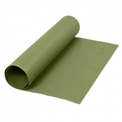 Kožený papír šicí papír 50 x 100 cm - zelená barva, pratelný papír snap paper - papír se vzhledem kůže, na kabelky, obaly na kni
