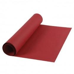 Kožený papír šicí papír 50 x 100 cm - červená barva, snap paper, pratelný papír - papír se vzhledem kůže, na kabelky, obaly na k