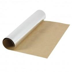 Kožený papír šicí papír 50 x 50 cm - metalický stříbrný, pratelný papír snap paper - papír se vzhledem kůže, na kabelky, obaly n