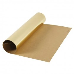 Kožený papír šicí papír 50 x 100 cm - metalický zlatý, pratelný papír snap paper - papír se vzhledem kůže, na kabelky, obaly na