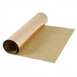 Kožený papír šicí papír 50 x 100 cm - metalický růž.zlatý, pratelný papír snap paper - papír se vzhledem kůže, na kabelky, obaly