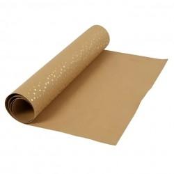 Kožený papír šicí papír 50 x 100 cm - vzor puntíků, prací papír snap paper - papír se vzhledem kůže, na kabelky, obaly na knihy