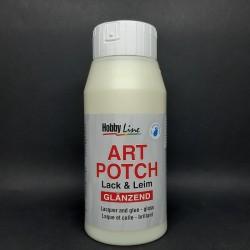 Lepidlo a lak Art Potch, lesklé, vhodné pro decoupage na terakotu, dřevo, keramiku, kámen nebo lepenku, 750ml