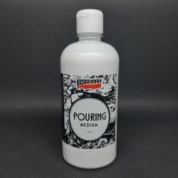 Pouring médium, 500 ml, vhodné pro zvyšování tekutosti akrylové barvy, kdy nedochází ke změně její krycí schopnosti ani barvy/ba