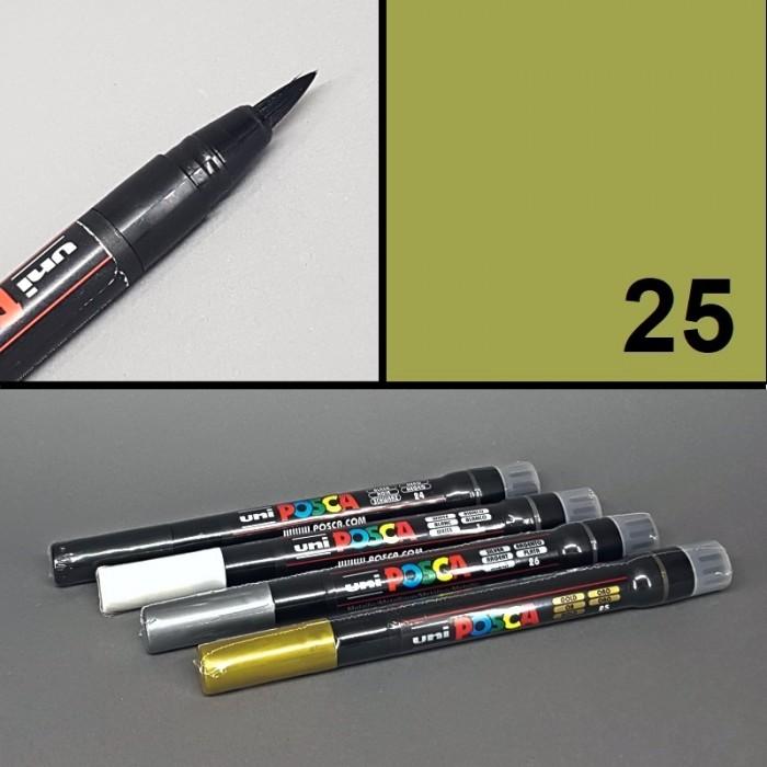 Univerzální akrylový popisovač/ / fix Posca, Brush, štětcový hrot. Vhodný na textil, porcelán, kámen, sklo, dřevo aj.