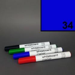 Školní stíratelný mazatelný popisovač / fix na tabuli Koh-i-noor - modrý - silný tlustý 2,5 mm.