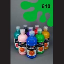 Zelená temperová barva Primo Magic 500 ml. Krycí, světlostálá, rychleschnoucí, vhodná pro děti i dospělé.