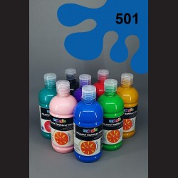 Modrá (cyan) temperová barva Primo Magic 500 ml. Krycí, světlostálá, rychleschnoucí, vhodná pro děti i dospělé.