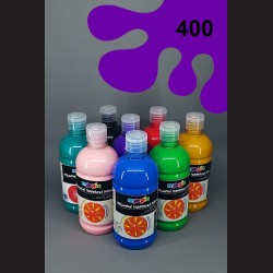 Fialová temperová barva Primo Magic 500 ml. Krycí, světlostálá, rychleschnoucí, vhodná pro děti i dospělé.