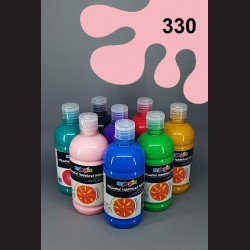 Růžová temperová barva Primo Magic 500 ml. Krycí, světlostálá, rychleschnoucí, vhodná pro děti i dospělé.