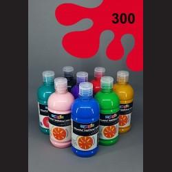 Červená temperová barva Primo Magic 500 ml. Krycí, světlostálá, rychleschnoucí, vhodná pro děti i dospělé.