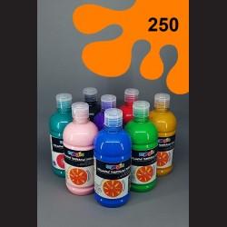 Oranžová temperová barva Primo Magic 500 ml. Krycí, světlostálá, rychleschnoucí, vhodná pro děti i dospělé.