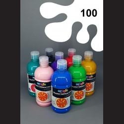 Bílá temperová barva Primo Magic 500 ml. Krycí, světlostálá, rychleschnoucí, vhodná pro děti i dospělé.