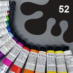Profesionální olejová barva UMTON, 20 ml, odstín čerň kostní. Kvalitní, odolné, světlostálé pigmenty.
