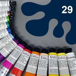 Profesionální olejová barva UMTON, 20 ml, odstín pruská modř. Kvalitní, odolné, světlostálé pigmenty.