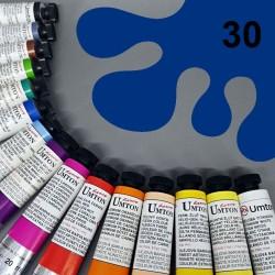 Profesionální olejová barva UMTON, 20 ml, odstín permanentní modř. Kvalitní, odolné, světlostálé pigmenty.