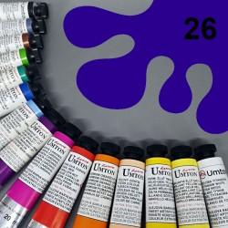 Profesionální olejová barva UMTON, 20 ml, odstín ultramarin tmavý. Kvalitní, odolné, světlostálé pigmenty.