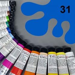 Profesionální olejová barva UMTON, 20 ml, odstín kobalt světlý. Kvalitní, odolné, světlostálé pigmenty.