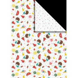 Fotokarton - ovoce / zmrzlina, A4, 300g, vhodné pro vystřihování, lepení a k dekoracím
