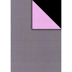 Fotokarton A4 fialové puntíky, tvrdý karton 300g vhodný na výrobu přání, tvoření s dětmi, scrapbook a další tvoření