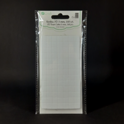 Samolepicí čtverečky, 10x10x3mm, vhodné na lepení různých dekorací, přání, papírů, fotografií apod.