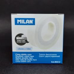 Oboustranná lepicí páska, 15x10, vhodné do kanceláře, obchodů i domácnosti. Lze využít i pří kreativní tvorbě, scrapbookingu apo