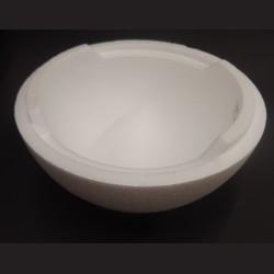 Polystyrenová polokoule, 14 cm, vhodné na výrobu zvířátek, patchwork a jiné dekorační techniky