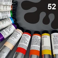 Profesionální olejová barva UMTON, 60 ml, odstín čerň kostní. Kvalitní, odolné, světlostálé pigmenty.
