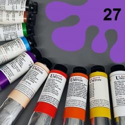 Profesionální olejová barva UMTON, 60 ml, odstín ultramarin červený. Kvalitní, odolné, světlostálé pigmenty.