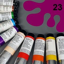 Profesionální olejová barva UMTON, 60 ml, odstín ultramarin růžový. Kvalitní, odolné, světlostálé pigmenty.