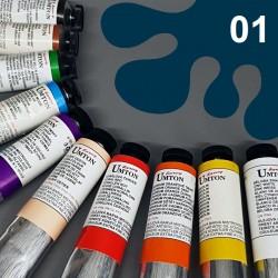 Profesionální olejová barva UMTON, 60 ml, odstín indigo. Kvalitní, odolné, světlostálé pigmenty.