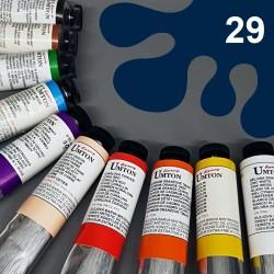 Profesionální olejová barva UMTON, 60 ml, odstín pruská modř. Kvalitní, odolné, světlostálé pigmenty.